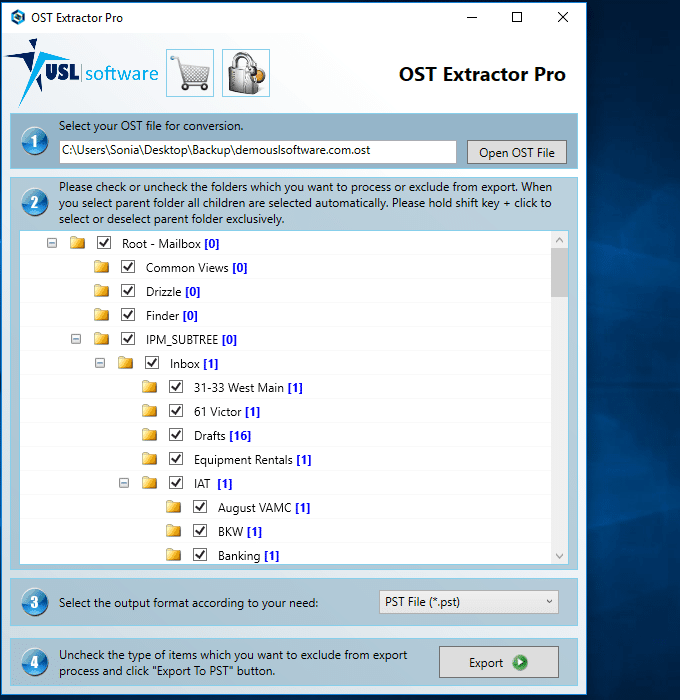 how to convert ost to pst file format