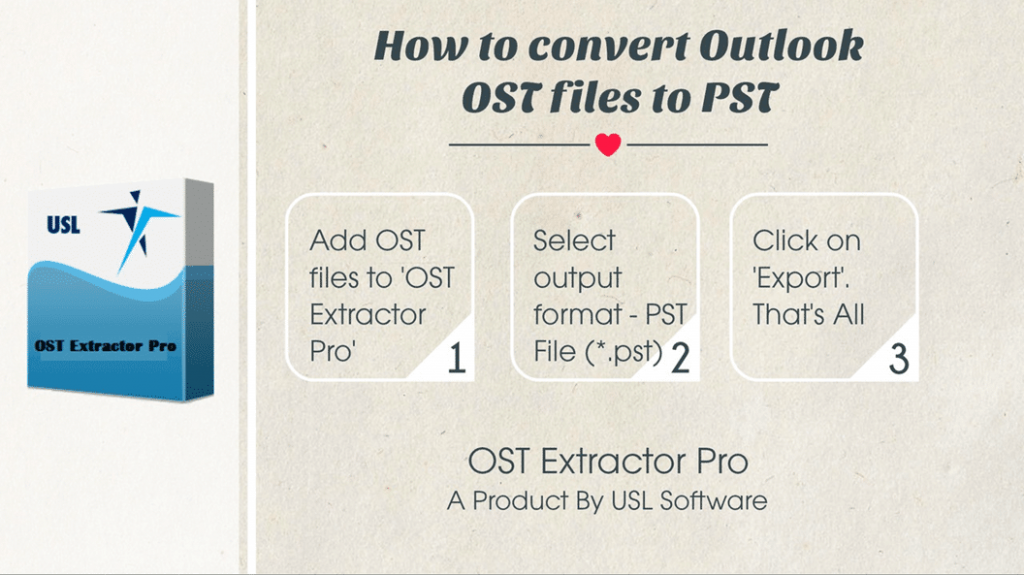 how to convert outlook ost files to pst