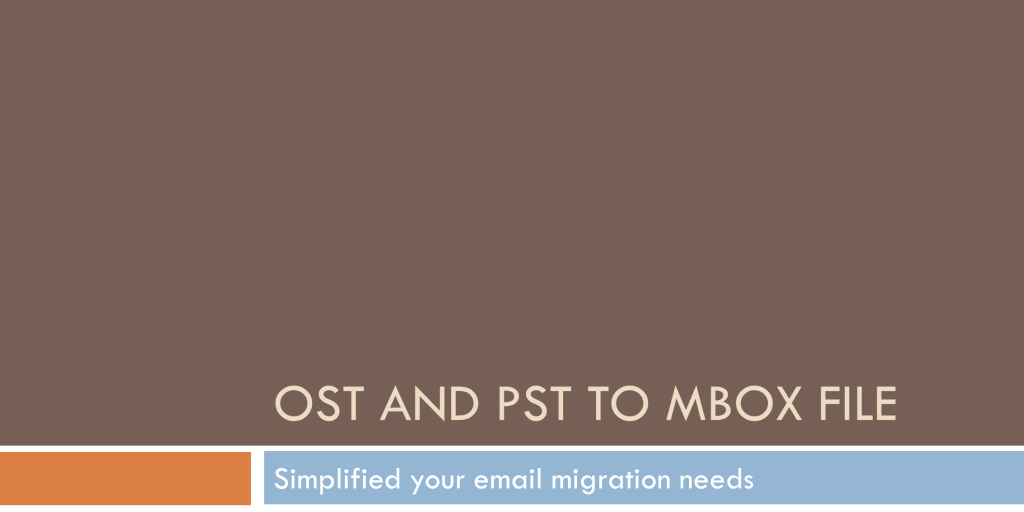 outlook ost and pst conversion to mbox