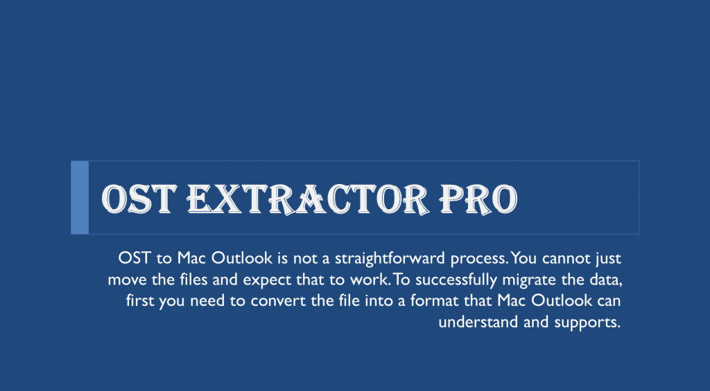 ost to mac outlook migration