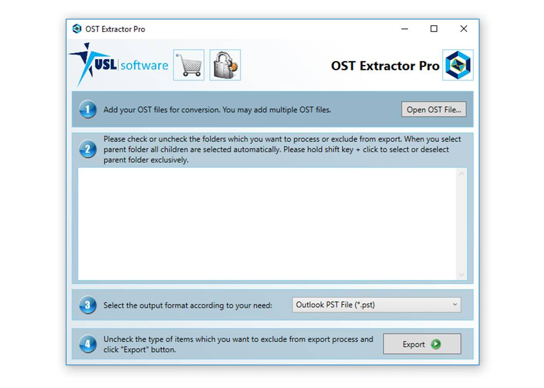 convert ost format into pst